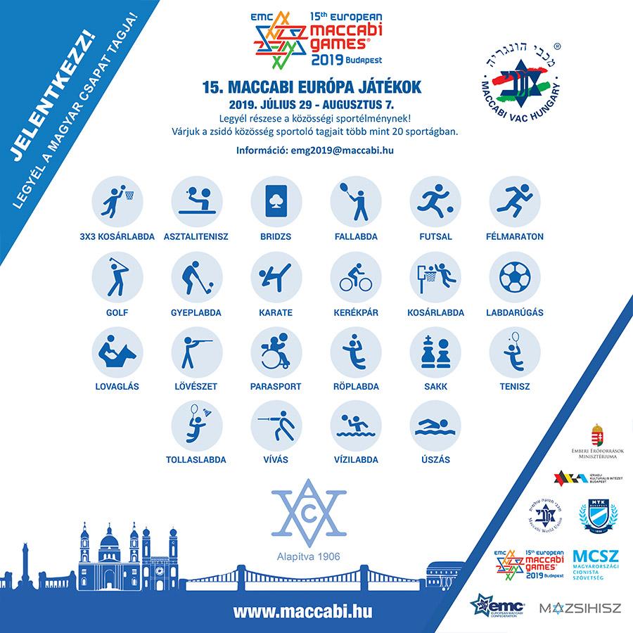 15. Maccabi Európa Játékok